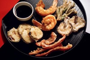 Tempura gives vegetables a light, crispy crust.