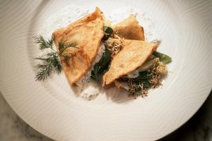 Savory crepes are filled with meat and vegetables for endless variety in meals.