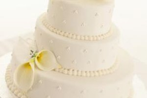 Buttercream is a common frosting for wedding cakes.