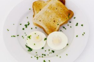 Eggs and whole grain toast provide vitamin D to start the day.