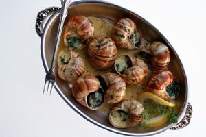 Snails in lemon butter sauce.
