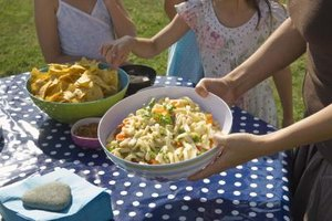Pasta salads help satisfy on a hot day.