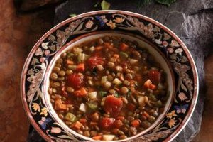 Beans and lentils are important sources of protein in vegetarian meals.