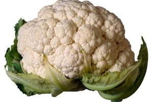 Most cauliflower is white, but yellow, green and purple varieties are available.