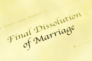 Final dissolution of Marriage' paperwork