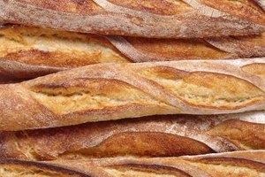 Thin baguettes thaw more quickly than thicker bread loaves.