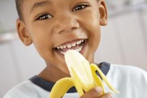 Bananas are a good source of B6 for children.