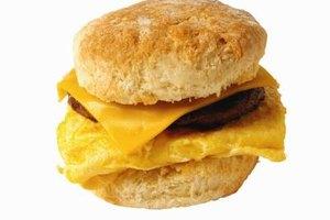 Look for whole-grain, low-fat frozen breakfast sandwiches.