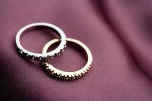 Some couples exchange rings at their commitment ceremony.