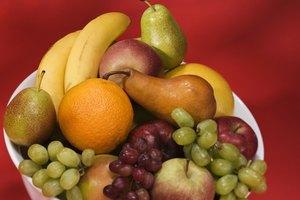 Calorías en una pera, una banana y una manzana