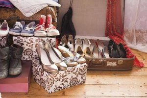Cover your shoes when you store them to protect them from dirt and other debris.