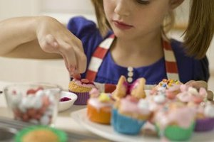 Let the kids choose the colors and combinations for tie-dye cupcakes.