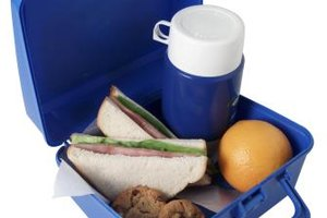 Pack warm food in a lunchbox thermos.