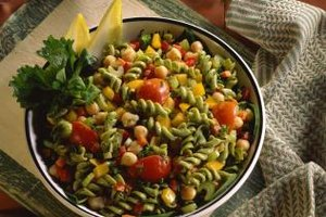 Use chickpeas as a substitute for nuts in salads.