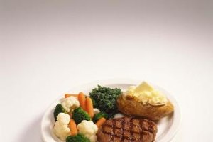 Steak and potato is a common dinner combination.