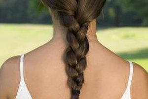 Secure the plait at the end of the braided section to keep it from loosening.