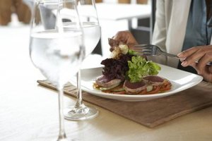 Ahi tuna is typically served seared.