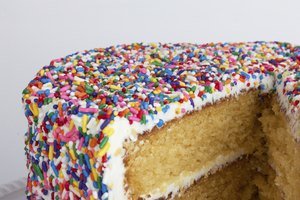How to Get the Sprinkles on the Side of a Cake