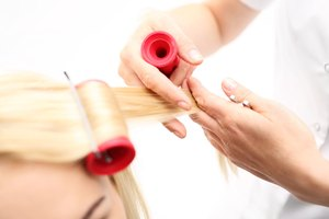 How to Style Layered Medium-Length Hair With Hot Rollers