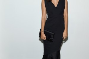 How to Accessorize a Black V Neck Dress for the Evening
