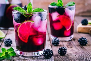Huckleberry Vodka Drinks
