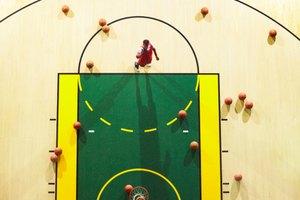 Partes de una cancha de baloncesto