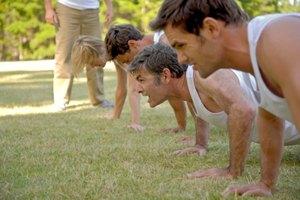 Qué músculos se utilizan en las flexiones