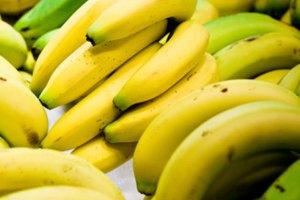 Calorías y proteínas en una banana