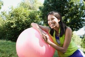 Cómo desinflar una pelota de ejercicios