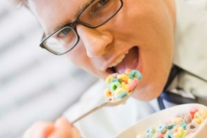 ¿Cuantas calorías tiene un plato de cereal con leche?