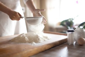How to Substitute Flour for Bread Flour