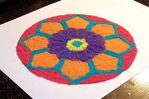 How to Create a Sand Mandala