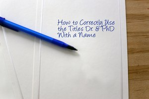 How to Reference a Person With a PhD