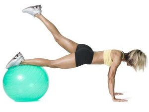 Advanced Stability Ball Hamstring Training