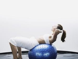 Abdominal Crunches Lying on a Ball