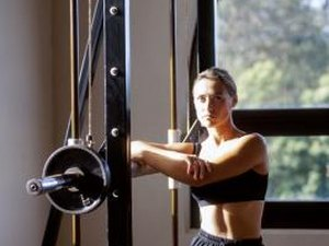 what machines do women use for arms to lose weight at the