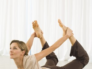 gentle yoga exercises for relief of hip pain  woman