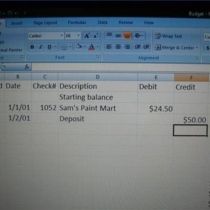 How to Create a Check Register in Excel