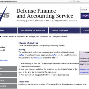 How to Update My DFAS Address