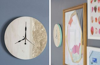 [Article Image] - DIY Gold Leaf Clock
