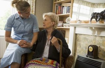 Volunteering to help senior citizens is one path to a job as a caregiver.