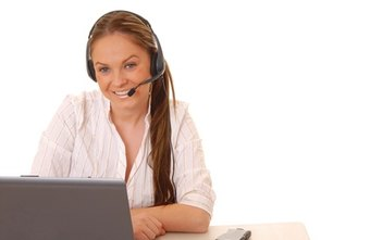 Call center workers often interact with customers via a headset.