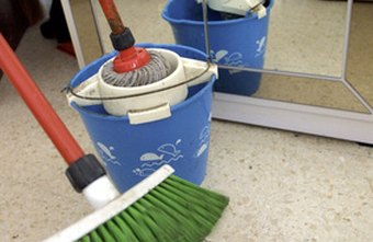 Mops and brooms are essential tools for the professional cleaner.