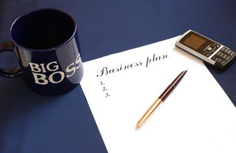Business plans start with writing down goals.