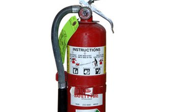 Take steps to prevent your fire extinguisher from being stolen.