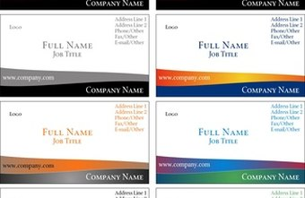 How to create your own business card template chron personalized business card templates can make your card stand out from standardized designs wajeb Image collections