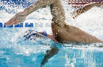 Swimming freestyle provides an intense, full-body workout.