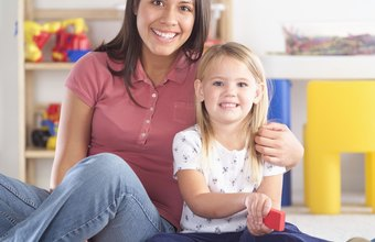 Child-care workers make up for low salary with job satisfaction.