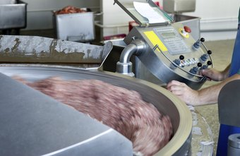 Meat production supervisors work in meat processing plants.