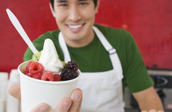 Stress the health benefits of frozen yogurt compared to fattening ice cream cones.